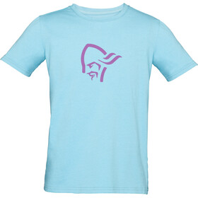 Norrøna /29 Cotton Viking T-Shirt Kinderen, trick blue/royal lush